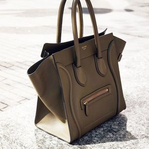 Celine Bags - Celine Mini Luggage in Drummed Calfskin Handbag